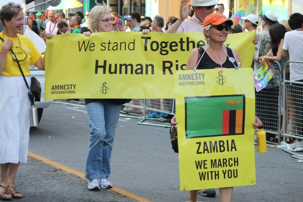 Amnesty International marching in the World Pride Parade, Toronto 2014