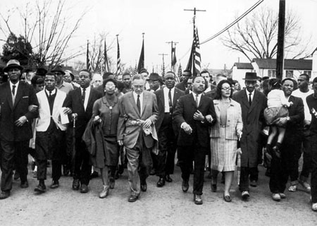 Selma to Montgomery March. Source: http://mlk-kpp01.stanford.edu/index.php/encyclopedia/chronologyentry/1965_03_25/