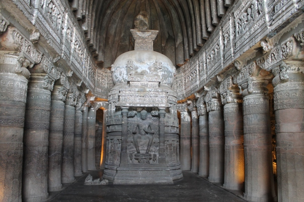 Buddhist cave at Ajanta