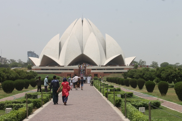 The Lotus Temple in New Delhi