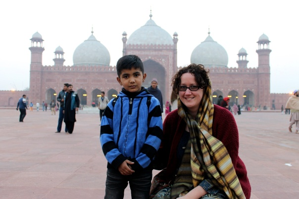 A very cute kid in Old Lahore who specifically asked for a photo of the two of us with his uncle's camera, and then with mine