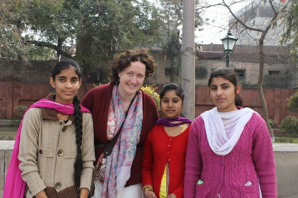 Jallianwala Bagh, with a few of the girls. About 10 photos in I figured I should get a photo too